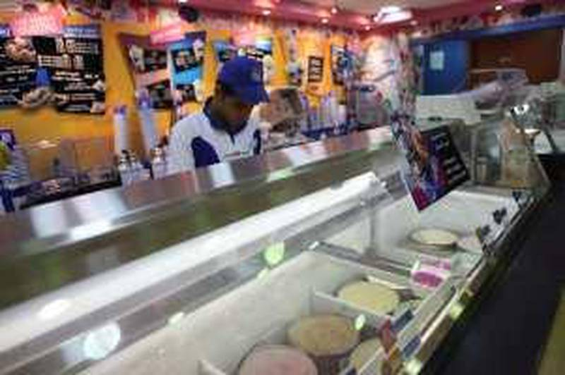 United Arab Emirates - Abu Dhabi - May 3rd, 2009:  Baskin Robbins Ice Cream story at Marina Mall (Galen Clarke/The National)