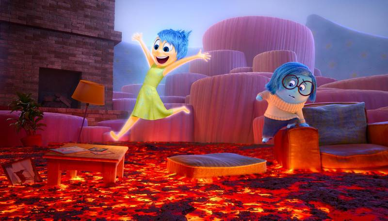 A handout movie still of INSIDE OUT –Joy and Sadness navigate through Imagination Land. (Disney•Pixar) *** Local Caption ***  al06au-movies-inside.jpg