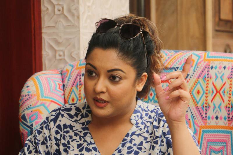 Bollywood actress Tanushree Dutta gestures as she talks to reporters in Mumbai, India, September 27, 2018. Picture taken on September 27, 2018. REUTERS/Stringer