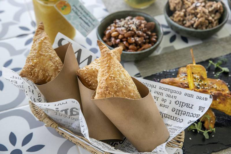 DUBAI, UNITED ARAB EMIRATES. 06 OCTOBER 2020. JA Hatta Fort Hotel has launched a collaboration with the Hatta Honey Bee Discovery Centre to use theyr products in the Food and Beverage menu of the hotel. Menu items at the Hotel. Feta and honey puff pastry. (Photo: Antonie Robertson/The National) Journalist: janice Rodriguez. Section: Arts & Life.