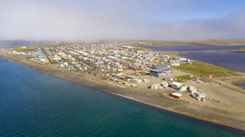 2F1TNHA The Fog is lifting in Barrow Alaska now called Utqiagvik AK
