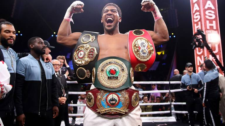 An image that illustrates this article Joshua vows to do 'everything in my power' to fight Fury