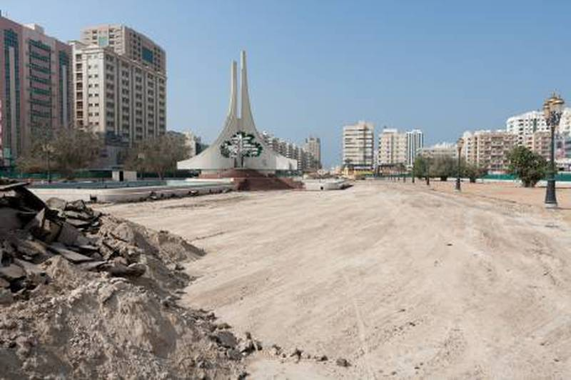 Renovation of the park area. Rolla square, Sharjah, 11th January 2011. Duncan Chard for the National