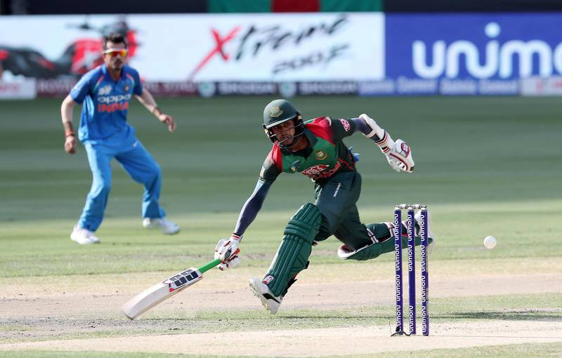 DUBAI , UNITED ARAB EMIRATES, September 28 , 2018 :- Mehidy Hasan of Bangladesh taking a run during the final of Unimoni Asia Cup UAE 2018 cricket match between Bangladesh vs India held at Dubai International Cricket Stadium in Dubai. ( Pawan Singh / The National )  For News/Sports/Instagram/Big Picture. Story by Paul