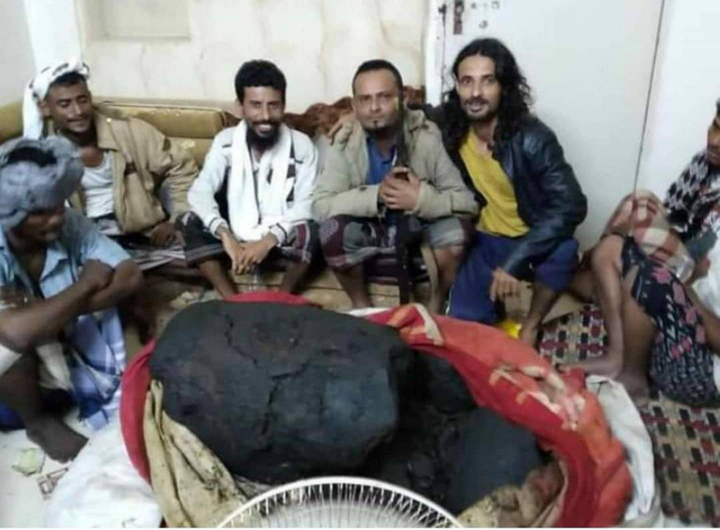 Lucky fishermen in Aden found big whale vomit worth up to billions. Ali Mahmood Mohamed for The National
