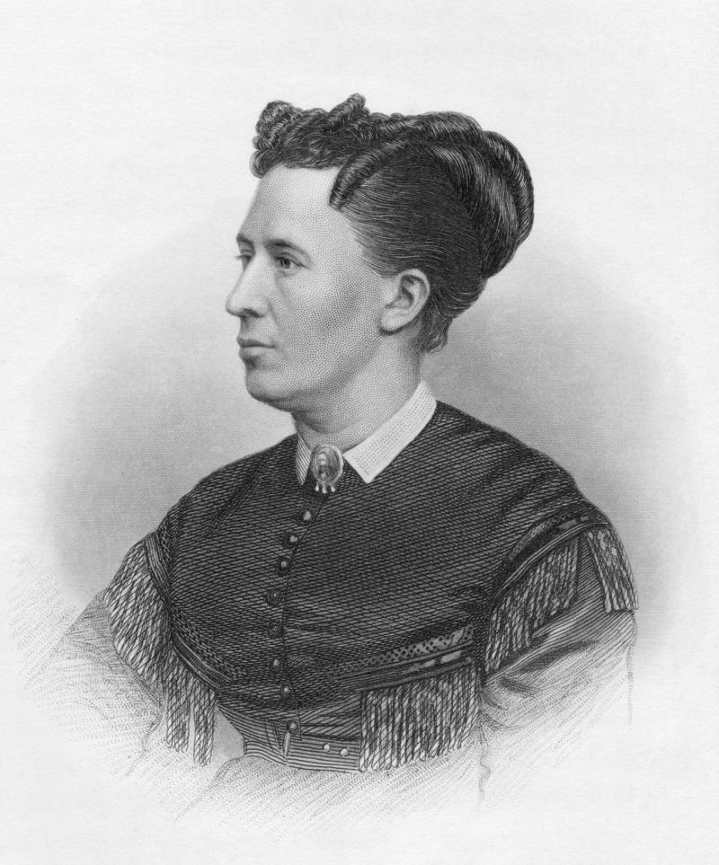 Julia Boggs Dent Grant (1826-1902), the wife of US President Ulysses S. Grant, circa 1870. Engraved by H. B. Hall. (Photo by Kean Collection/Getty Images)