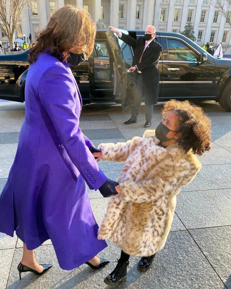 Vice President Kamala Harris with her great nice Amara Harris. Twitter/ @meenaharris