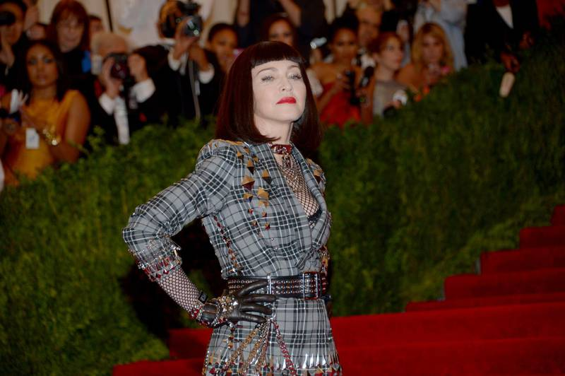epa03821724 (FILE) The file picture dated 06 May 2013 shows US musician Madonna attending the 'Punk: Chaos to Couture' Costume Institute Gala at the Metropolitan Museum of Art in New York City, New York, USA. Madonna will turn 55 on 16 August 2013.  EPA/JUSTIN LANE