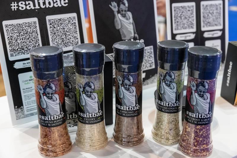 DUBAI, UNITED ARAB EMIRATES. 23 FEBRUARY 2021. Gulffood Exhibition at the Dubai World Trade Center. Salt Bae product. (Photo: Antonie Robertson/The National) Journalist: Janice Rodriquez. Section: National.