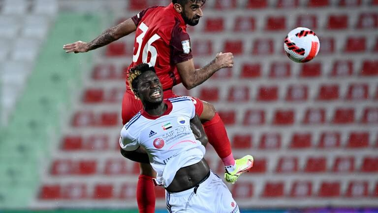 An image that illustrates this article Shabab Al Ahli edge seven-goal thriller to end Sharjah's perfect record