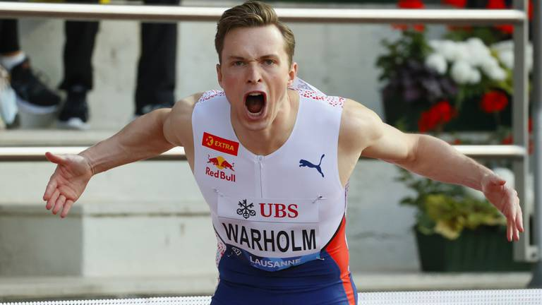 An image that illustrates this article Warholm eyes new events after Olympic gold in 400m hurdles