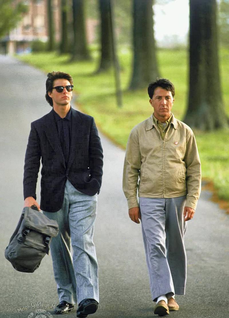 Tom Cruise and Dustin Hoffman in Rain Man (1988) IMDb