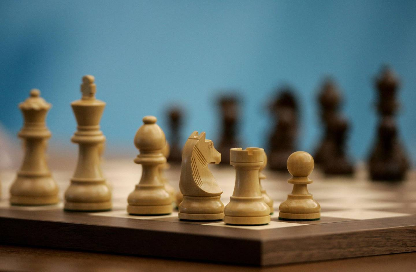 DOHA, QATAR - DECEMBER 02:  A detail of the chess board before the start of the Men's and Women's Rapid Chess Individual during the 15th Asian Games Doha 2006 at the Khalifa Tennis & Squash Complex on December 2, 2006 in Doha, Qatar.  (Photo by Streeter Lecka/Getty Images for DAGOC)
