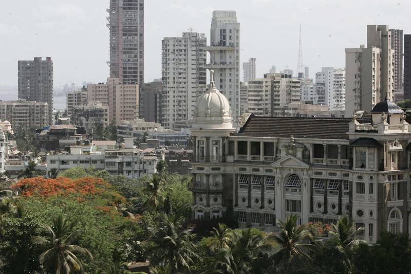 MUMBAI, INDIA - MAY 25, 2007: Malabar Hill  Housing  Real Estate  Highrise Buildings  Skyscrapers  A view from Simla House in Malabar Hill. (Photo by Natasha Hemrajani/Hindustan Times via Getty Images)