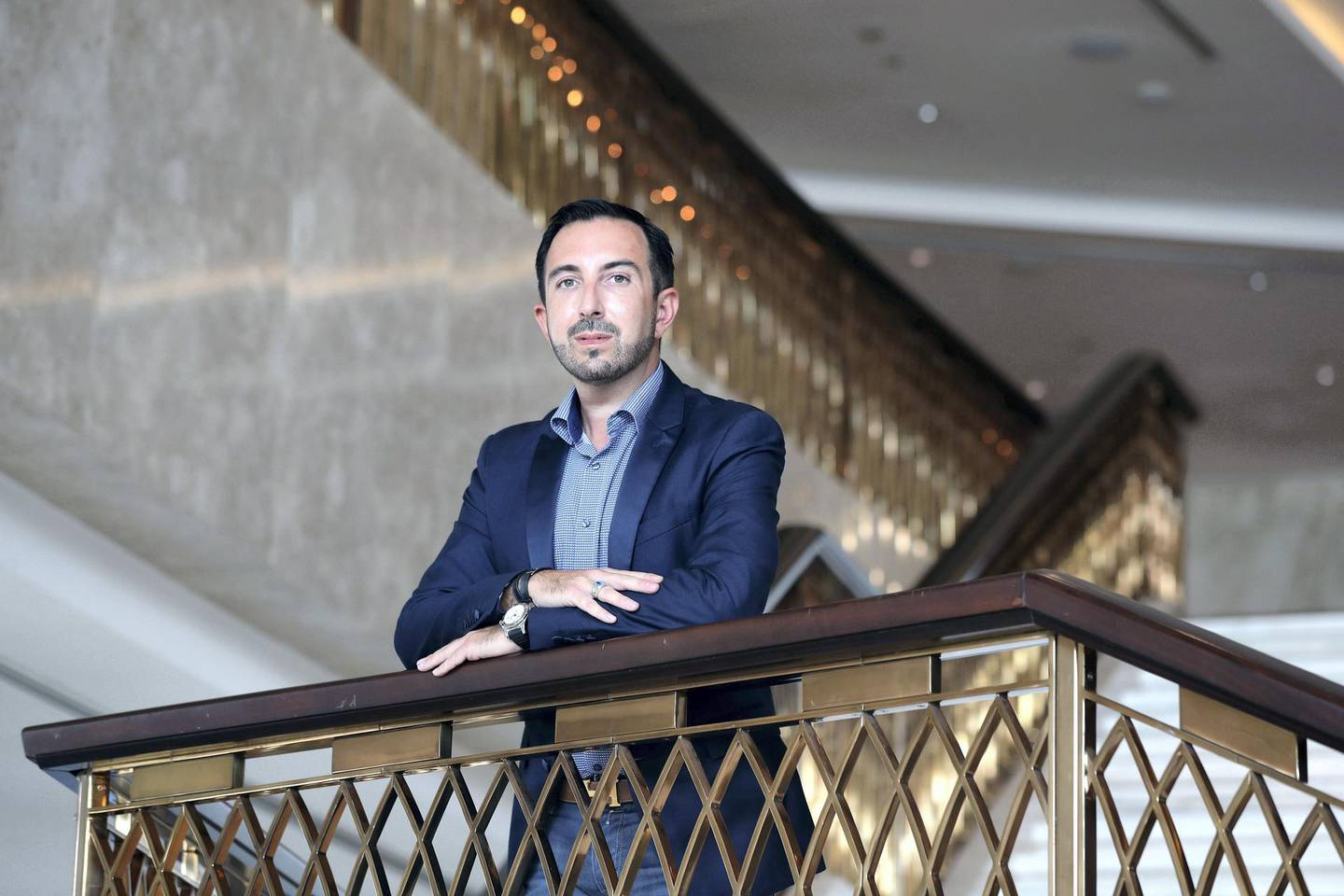 Dubai, United Arab Emirates - Reporter: Melanie Swan. Business. Money and Me. Portrait of Count Oliver of Wurmbrand-Stuppach, the man behind The Ambassadors Club, and a nobleman now based in Dubai. Wednesday, October 7th, 2020. Dubai. Chris Whiteoak / The National