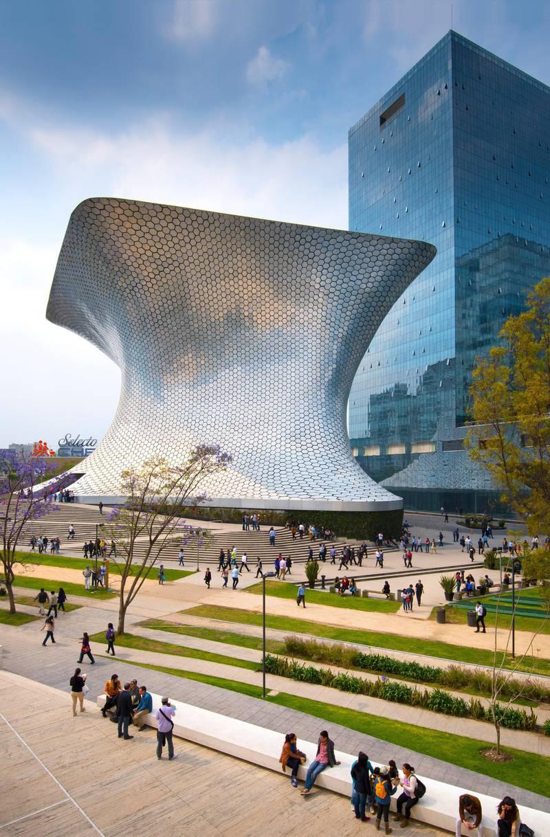 Mexico, Mexico City, Soumaya Museum, Plaza Carso, Polanco District. Getty Images
