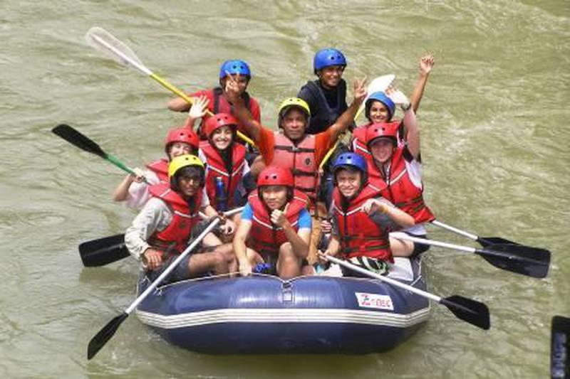 Emirates International school, Duke of Edinburgh award trip to Borneo.Courtesy of Emirates International School