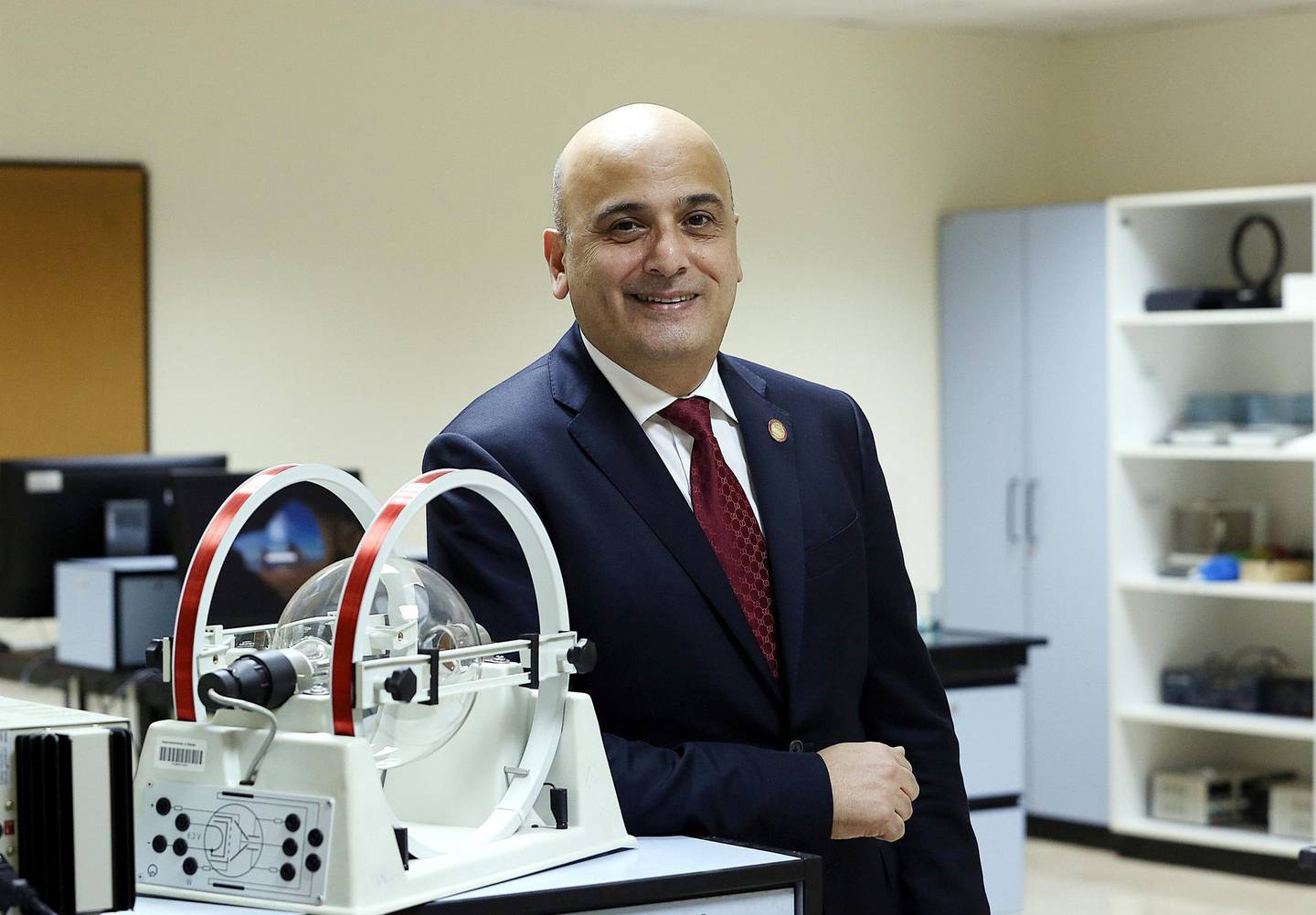 Sharjah, May 27, 2018: Dr. Mahmoud Anabtawi, Dean of the College of Arts and Sciences, American University of Sharjah at the University City in Sharjah . Satish Kumar for the National / Story by John Dennehy