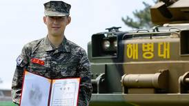 Tottenham star Son Heung-min completes military training with flying colours - in pictures