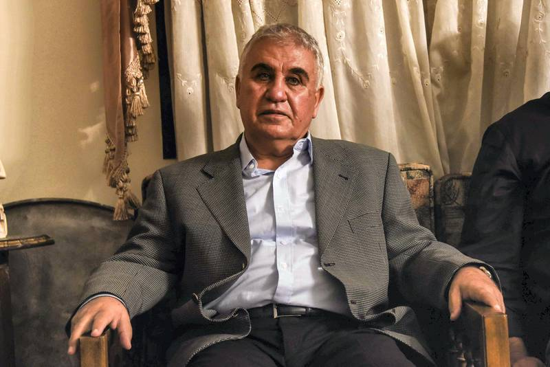Bouday, Lebanon, 10 October 2020. Muhammah Abbas Chamas, 65, son of Abbas Assadallah Chamas, 94, after a Chamas clan meeting discussing regional response to the killing of family member, Mohammad Chamas by a member of the Jaafar family 4 October 2020. Elizabeth Fitt for The National