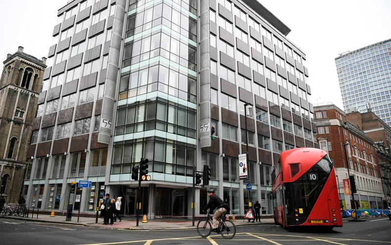 epa06626154 A view of the Cambridge Analytica headquarters in London, Britain, 24 March 2018. Officers of the Information Commissioner's Office (ICO) on late 23 March, have searched the Cambridge Analytica headquaters, as the company is accused of using the personal data of 50 million Facebook members for its own campaigns during the US election and the Brexit referendum.  EPA/NEIL HALL
