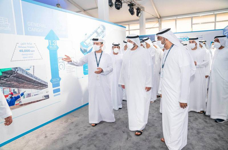 Mohammed bin Hamad Al Sharqi inaugurates the expansion of Fujairah Ports with an investment of AED 10 billion. WAM