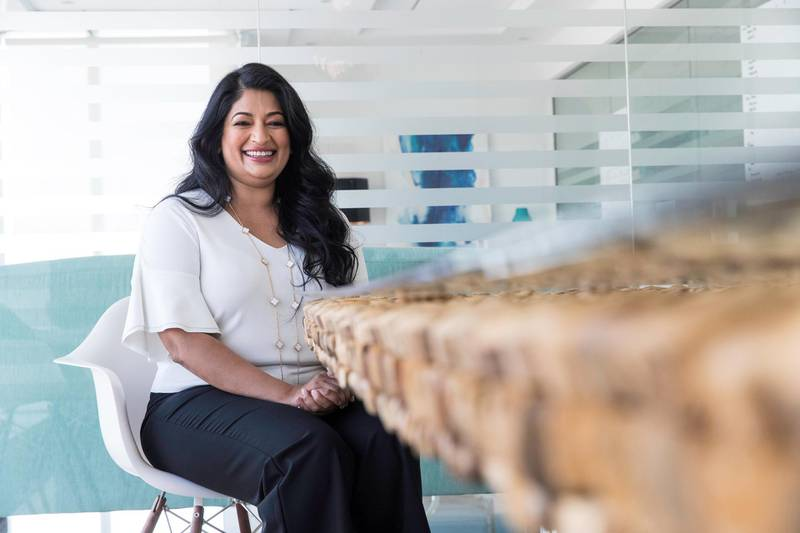 Dubai, United Arab Emirates, October 24, 2017:    Padmini Gupta co-founder of Rise at her office in the Jumeirah Lake Tower area of Dubai October 24, 2017. Christopher Pike / The NationalReporter: Suzanne LockeSection: Business