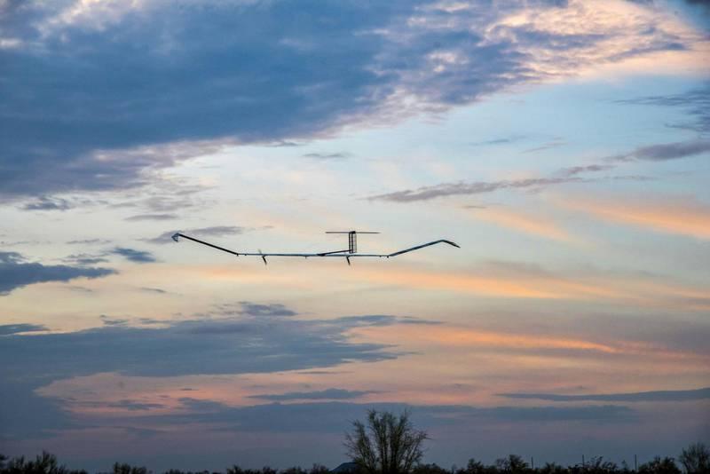 Zephyr is a High Altitude pseudo-Satellite (HAPS) UAS/UAV whcih runs on solar power. Courtesy Airbus