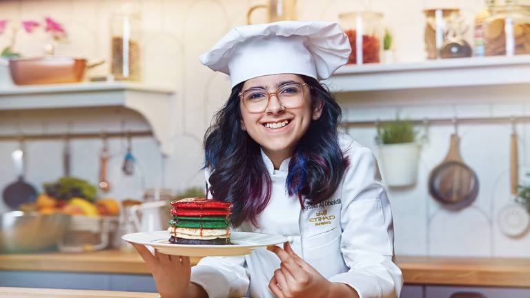 An image that illustrates this article Sky-high opportunity: Emirati chef, 13, creates in-flight meal for Etihad Airways