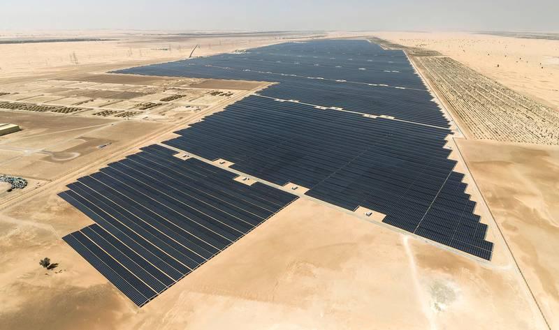 Al Dhafra Solar Plant. WAM