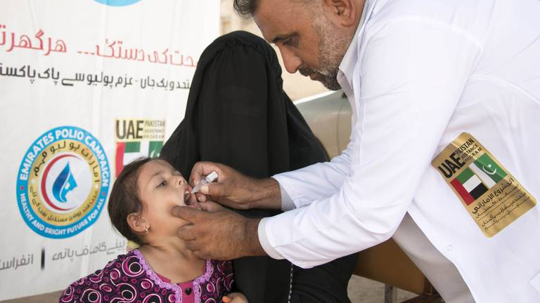An image that illustrates this article Remarkable progress made to end polio, says Sheikh Mohamed bin Zayed