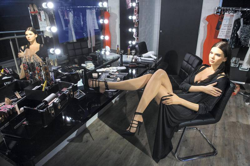LONDON, ENGLAND - FEBRUARY 23:  The new Kendall Jenner wax figure is displayed as part of the London Fashion Week experience exhibit at Madame Tussauds on February 23, 2016 in London, England.  (Photo by Jeff Spicer/Getty Images)