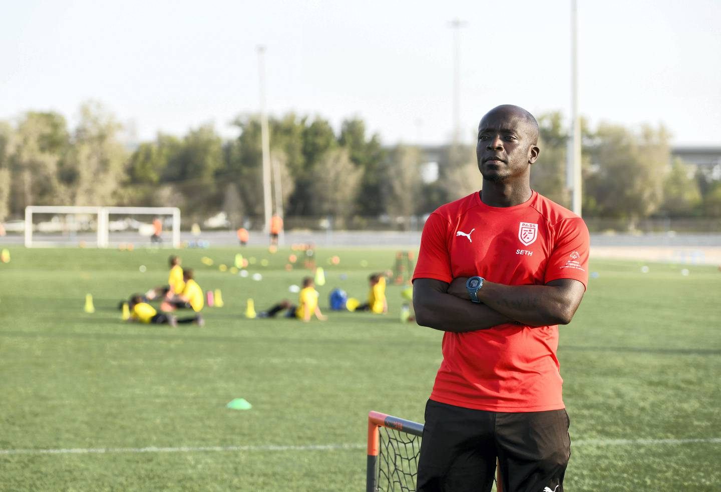Seth Amoafo-AD Seth Amoafo will be starting a programme with Special Olympics whereby a typical student competes with a person of determination, and works together on specified football skills in Abu Dhabi on May 18, 2021. Khushnum Bhandari / The National  Reporter: Haneen Dajani