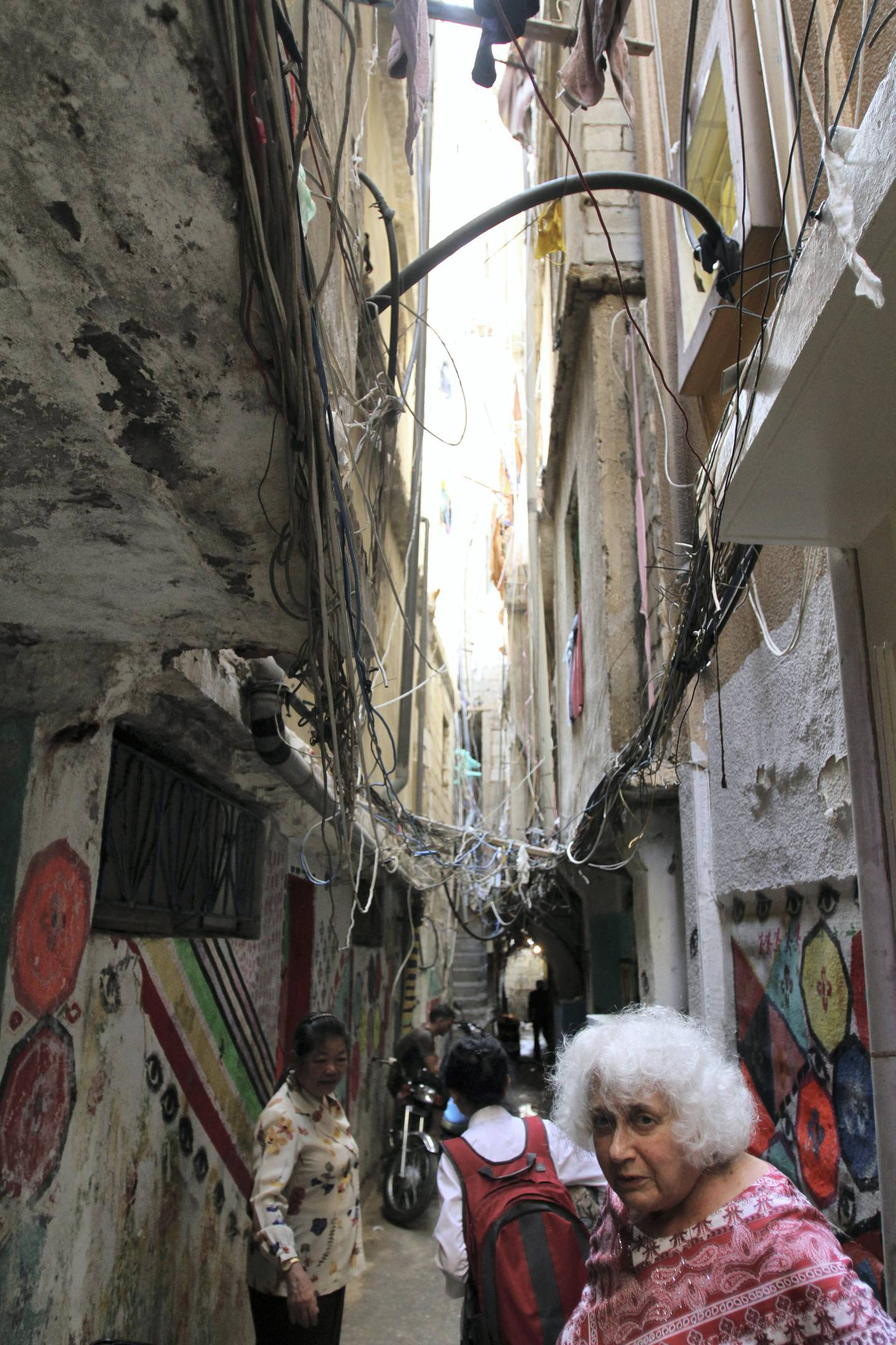 Ellen Siegel, who is from Washington DC, traveled to the Beirut neighborhood of Shatila to mark the anniversary of the Sabra and Shatila massacre in 1982. Siegel worked at Gaza Hospital in Shatila when the massacre took place and has visited every year to mark the anniversary for the last 17 years. Sept. 22, 2017.