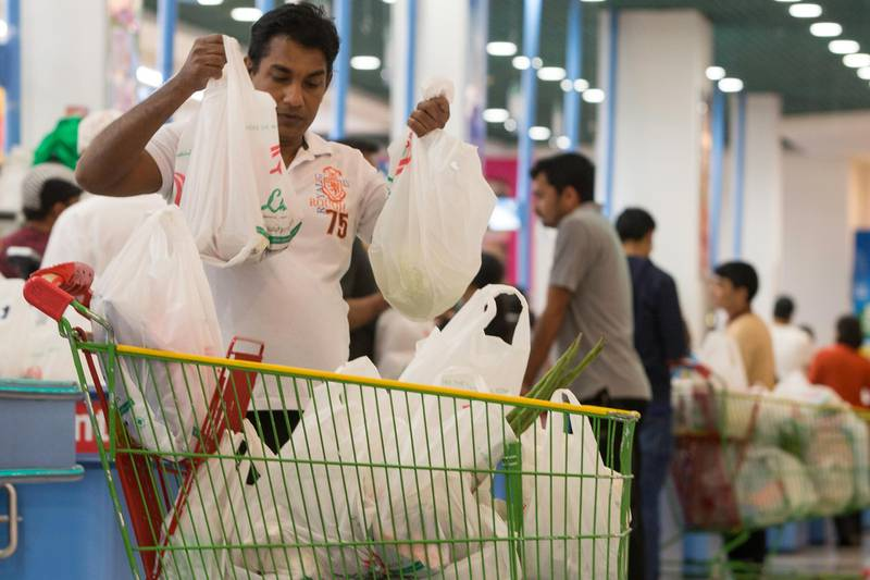 Dubai, United Arab Emirates, March 24, 2017:     General view of shoppers at the Lulu Hypermarket in the Al Barsha area of Dubai on March 24, 2017. Christopher Pike / The National  Job ID: 15607 Reporter:  N/A Section: News Keywords: VAT, tax, retail, customer, shop, shopping, grocery, cosmetics, clothes, jewelry, value, bags,  *** Local Caption ***  CP0324-na-VAT-25.JPG