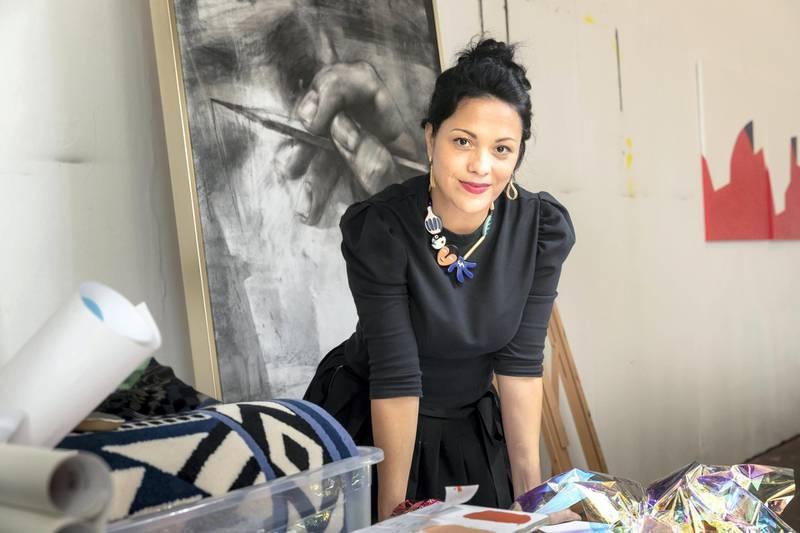 DUBAI, UNITED ARAB EMIRATES. 21 JANUARY 2021. Sam Saliba, Founder and Creative Director of Art Painting Lab in Al Quoz. (Photo: Antonie Robertson/The National) Journalist: Gillian Duncan. Section: National.
