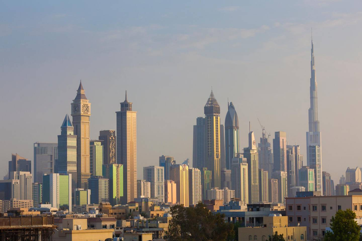 Skyscrapers along Sheikh Zayed Road, skyline from Jumeirah, Jumeirah, Dubai, United Arab Emirates. Getty Images