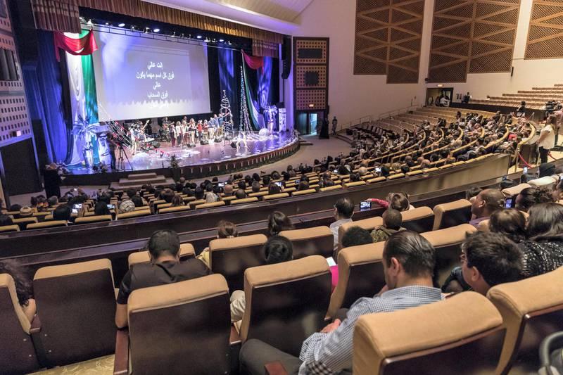 ABU DHABI, UNITED ARAB EMIRATES. 09 DECEMBER 2017. Prayer for UAE at the Abu Dhabi National Theater. (Photo: Antonie Robertson/The National) Journalist: Shereena Al Nuwais. Section: National.