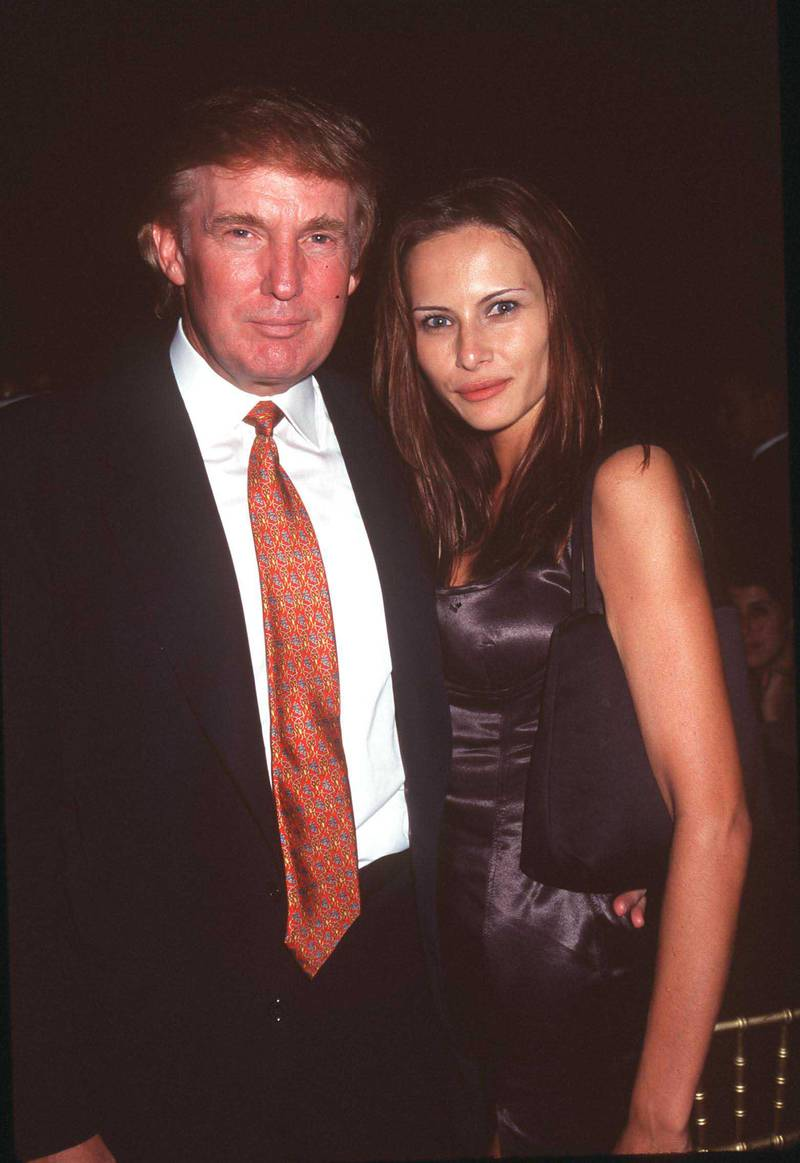 9/28/98 New York, NY Donald Trump and Melania Knausss at the Cipriani Dinner Concert Series. Getty Images