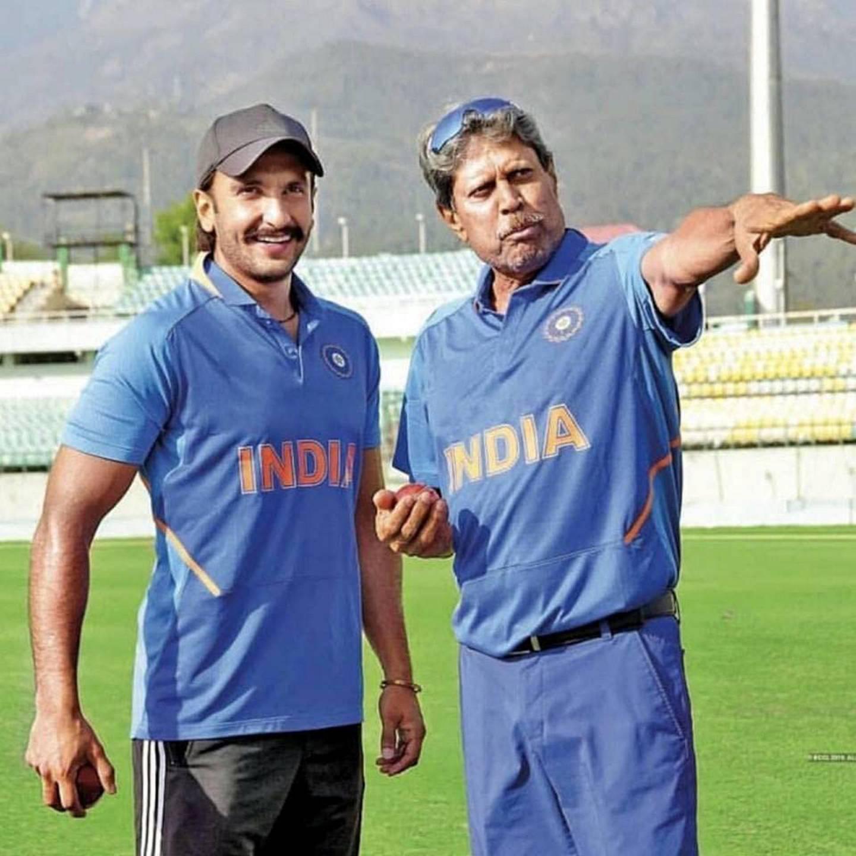 Kapil Dev and Ranveer Singh in 83 (2021). IMDb