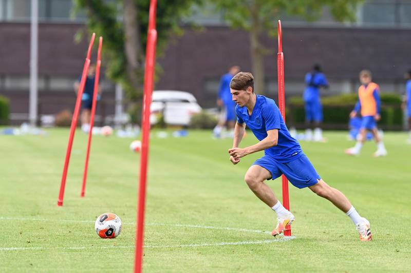 COBHAM, ENGLAND - JUNE 17: Billy Gilmour of Chelsea during a training session at Chelsea Training Ground on June 17, 2020 in Cobham, England. (Photo by Darren Walsh/Chelsea FC via Getty Images)