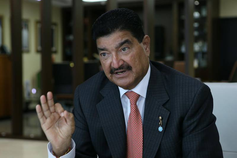 ABU DHABI - UNITED ARAB EMIRATES - 22JUNE2016 - Dr. B.R Shetty the Indian billionaire and head of NMC talks about his relationship with Late Sheikh Zayed at his office in Abu Dhabi. Ravindranath K / The National (to go with Shareena AlNuwais story for News) ID: 69483 *** Local Caption ***  RK2206-ShettyandZayed10.jpg
