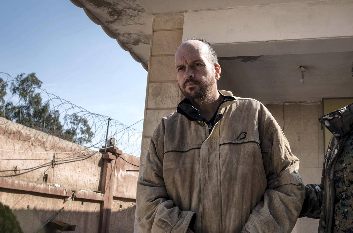New Zealand ISIS supporter Mark Taylor inside a Kurdish security facility in northern Syria, March 5 2019.  surrendering to Syrian Democratic Forces. Campbell MacDiarmid