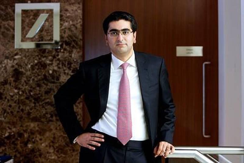 DUBAI , UNITED ARAB EMIRATES  –  Jan 14 : Ibrahim Qasim , head of Islamic Finance Structuring , Deutsche Bank at his office in DIFC Gate Village in Dubai. ( Pawan Singh / The National ) For Business. Story by Frank Kane