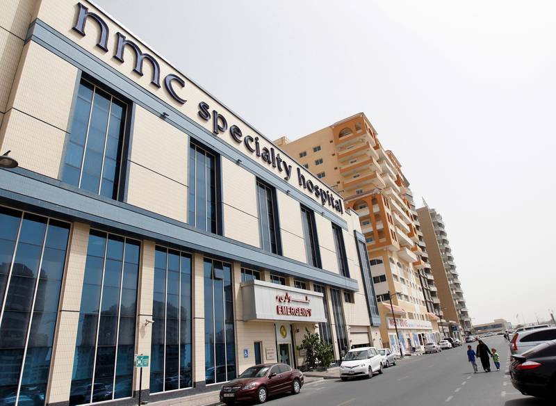 FILE PHOTO: An NMC Specialty Hospital, part of the NMC Healthcare group which listed in the London Stock Exchange, is seen in the Al Nahda area of Dubai April 29, 2012. REUTERS/Jumana El Heloueh/File Photo