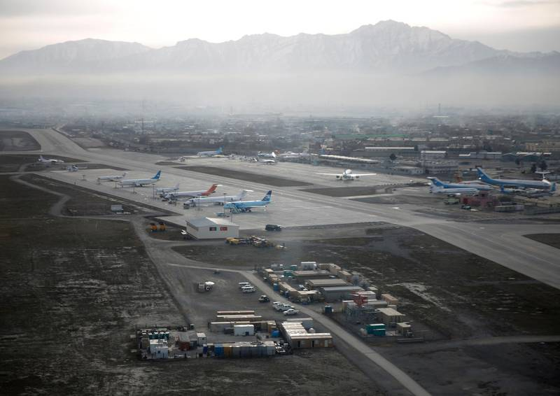 An aerial view of the Hamid Karzai International Airport in Kabul, previously known as Kabul International Airport, in Afghanistan, February 11, 2016. Picture taken February 11, 2016.  AfghanistanLM   REUTERS/Ahmad Masood