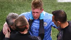 Manchester City's Kevin de Bruyne suffers fractures to nose and eye socket