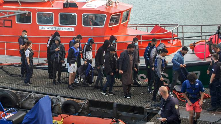 An image that illustrates this article French coastguard rescues 91 migrants amid surge in Channel crossings