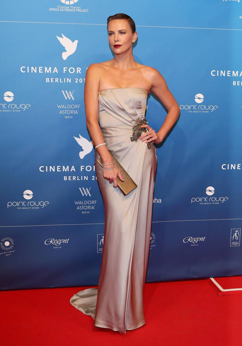 BERLIN, GERMANY - FEBRUARY 09:  Charlize Theron attends the Cinema For Peace Gala 2013 during the 63rd Berlinale International Film Festival at the Waldorf Astoria Hotel on February 9, 2013 in Berlin, Germany.  (Photo by Vittorio Zunino Celotto/Getty Images for Cinema For Peace)