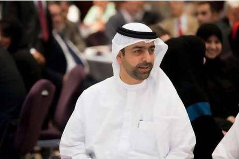 10/03/10 - Abu Dhabi, UAE - Younis Haji Al Khoori, Ministry of Finance Director General, gave the keynote address at the Ministry of Finance annual gathering at Fairmont Hotel in Abu Dhabi on Wednesday March 10, 2010.  (Andrew Henderson/The National)
